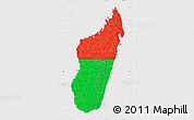 Flag Map of Madagascar, flag centered