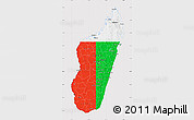 Flag Map of Madagascar, flag aligned to the middle