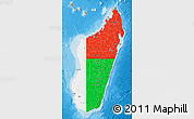 Flag Map of Madagascar, political outside