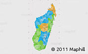 Political Map of Madagascar, cropped outside