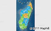 Political Map of Madagascar, darken
