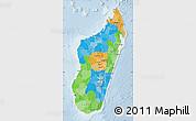 Political Map of Madagascar, lighten