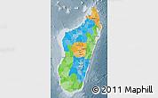 Political Map of Madagascar, semi-desaturated