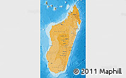 Political Shades Map of Madagascar, satellite outside, bathymetry sea