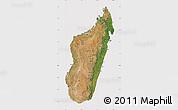 Satellite Map of Madagascar, cropped outside