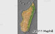 Satellite Map of Madagascar, desaturated