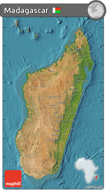 Satellite Map of Madagascar