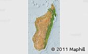 Satellite Map of Madagascar, lighten