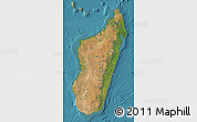Satellite Map of Madagascar, physical outside, satellite sea