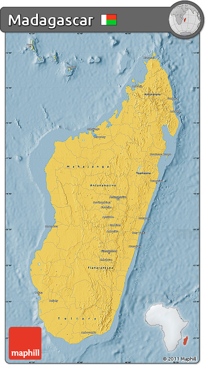 Savanna Style Map of Madagascar