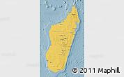 Savanna Style Map of Madagascar, single color outside