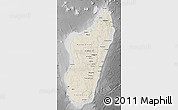 Shaded Relief Map of Madagascar, desaturated