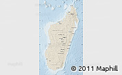 Shaded Relief Map of Madagascar, lighten