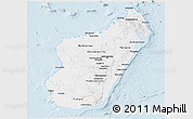 Classic Style Panoramic Map of Madagascar, single color outside