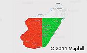 Flag Panoramic Map of Madagascar, flag rotated