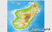 Physical Panoramic Map of Madagascar