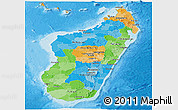 Political Panoramic Map of Madagascar