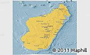Savanna Style Panoramic Map of Madagascar, single color outside
