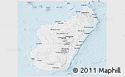 Silver Style Panoramic Map of Madagascar
