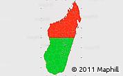 Flag Simple Map of Madagascar, flag centered