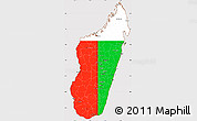 Flag Simple Map of Madagascar, flag rotated