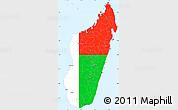 Flag Simple Map of Madagascar, single color outside