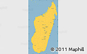 Savanna Style Simple Map of Madagascar, single color outside