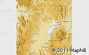 Physical Map of Amparafaravola