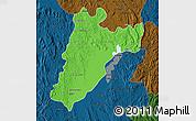 Political Map of Amparafaravola, darken
