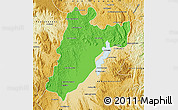 Political Map of Amparafaravola, physical outside