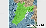 Political Map of Amparafaravola, semi-desaturated