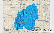 Political Map of Anosibe An-Ala, shaded relief outside