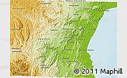 Physical 3D Map of Fenoarivo-Est
