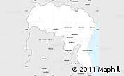Silver Style Simple Map of Fenoarivo-Est