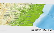 Physical Panoramic Map of Mahanoro