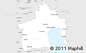 Silver Style Simple Map of Maroantsetra