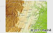 Physical 3D Map of Marolambo