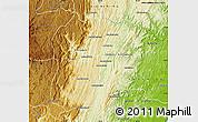 Physical Map of Marolambo
