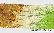 Physical Panoramic Map of Marolambo