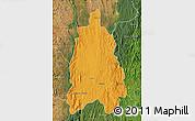 Political Map of Moramanga, satellite outside