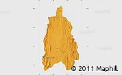 Political Map of Moramanga, single color outside