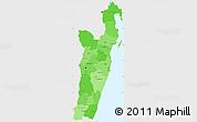 Political Shades Simple Map of Toamasina, single color outside