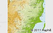 Physical Map of Soanierana-Ivongo