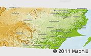 Physical Panoramic Map of Soanierana-Ivongo