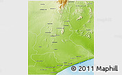 Physical 3D Map of Ambovombe-Androy