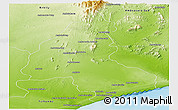 Physical Panoramic Map of Ambovombe-Androy