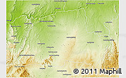 Physical 3D Map of Ankazoabo-Sud