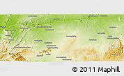 Physical Panoramic Map of Ankazoabo-Sud