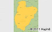 Savanna Style Simple Map of Bekily