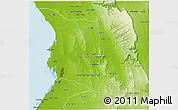 Physical 3D Map of Belon-i Tsiribihina